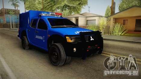Mitsubishi L200 для GTA San Andreas вид справа