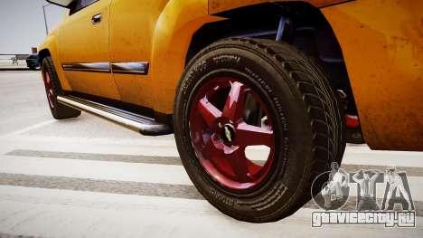 Chevrolet TrailBlazer v2.0 для GTA 4 вид сзади