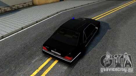 Mercedes-Benz W140 400SE для GTA San Andreas вид сзади