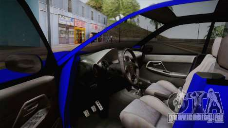 Subaru Impreza Wagon 2004 для GTA San Andreas вид изнутри