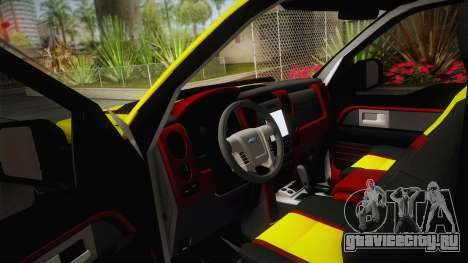 Ford F-150 Raptor FSHH для GTA San Andreas вид изнутри