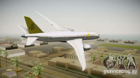 Boeing 787-8 Royal Brunei Airlines для GTA San Andreas вид слева
