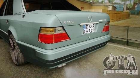 Mercedes-Benz E500 W124 AMG для GTA San Andreas вид сверху
