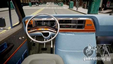 Ford Econoline 150 для GTA 4 вид изнутри
