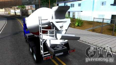 КамАЗ 65115 Автобетоносмеситель для GTA San Andreas вид сзади слева