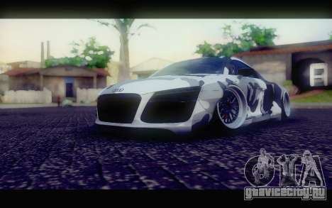 Audi R8 V10 Liberty Walk Performance для GTA San Andreas вид справа