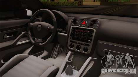 Volkswagen Scirocco Stance Works для GTA San Andreas вид изнутри