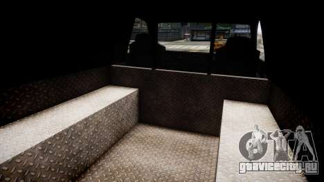 LCPD Declasse Burrito Police Transporter для GTA 4 вид изнутри