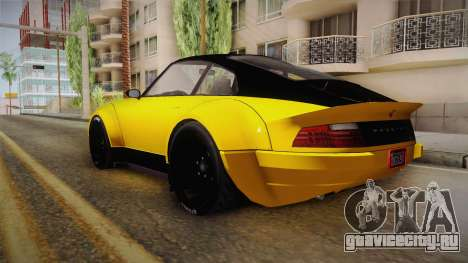 GTA 5 Pfister Comet Retro Custom для GTA San Andreas вид слева