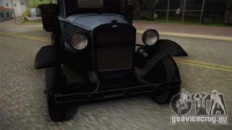 ГАЗ-ААА 1934 для GTA San Andreas вид сзади слева