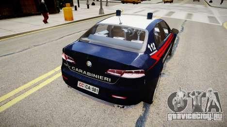 Alfa Romeo 159 Carabinieri для GTA 4 вид слева