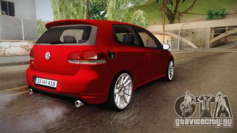 Volkswagen Golf 1.6 для GTA San Andreas вид справа