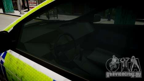 Ford Focus police UK для GTA 4 вид изнутри