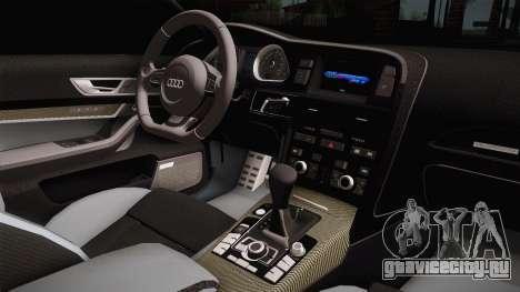 Audi RS6 для GTA San Andreas вид сбоку
