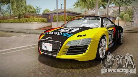 Audi Le Mans Quattro 2005 v1.0.0 YCH для GTA San Andreas вид снизу