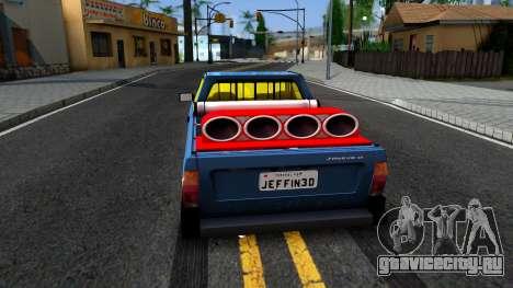 Volkswagen Saveiro для GTA San Andreas вид сзади слева