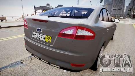 Ford Mondeo 2009 для GTA 4 вид справа