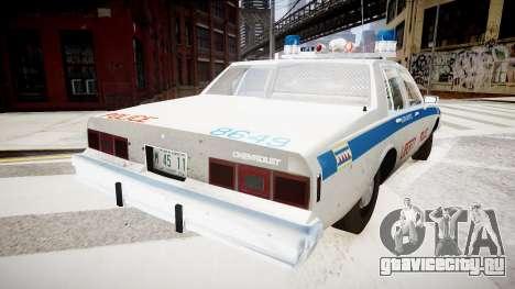 Chevrolet Impala Chicago Police для GTA 4 вид слева