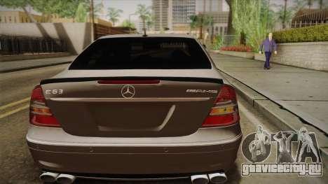 Mercedes-Benz E63 W211 AMG для GTA San Andreas вид сзади