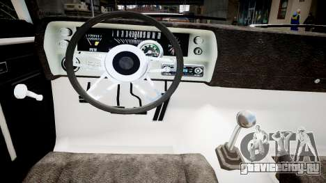 Chevrolet Nova для GTA 4 вид изнутри