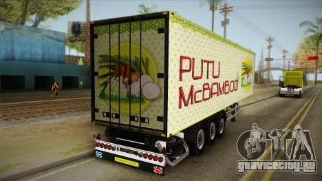 Putu McBamboo Trailer для GTA San Andreas вид сзади слева