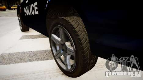 Ford Mondeo Police Nationale для GTA 4 вид сзади