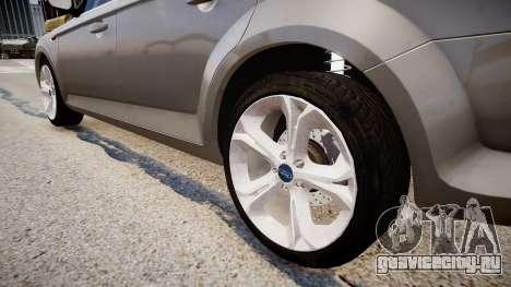 Ford Mondeo 2009 для GTA 4 вид сзади