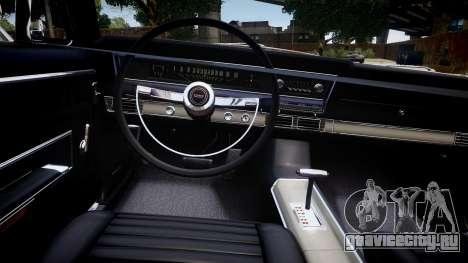 Ford Fairlane 500 для GTA 4 вид изнутри