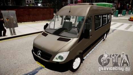 Mercedes-Benz Sprinter 313 CDi для GTA 4 вид справа