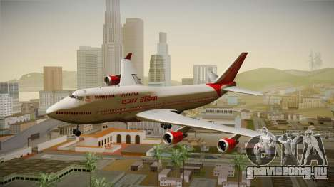 Boeing 747-400 Air India Khajuraho для GTA San Andreas вид сзади слева