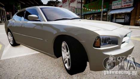Dodge Charger RT 2007 для GTA 4 вид справа