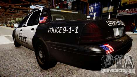 Ford Crown Victoria LCPD Police для GTA 4 вид сзади слева