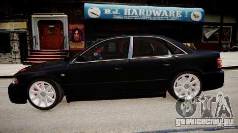 Audi S4 Widebody для GTA 4 вид слева