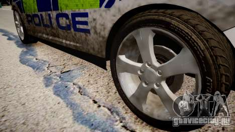 Ford Focus police UK для GTA 4 вид сзади