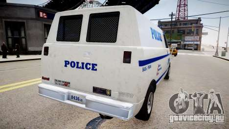 LCPD Declasse Burrito Police Transporter для GTA 4 вид слева