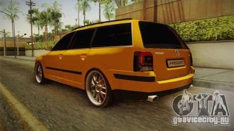 Volkswagen Passat B5 FL W8 для GTA San Andreas вид сзади слева
