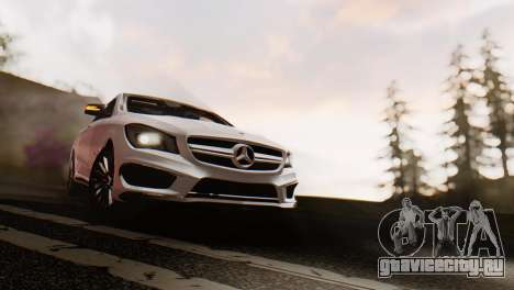 Mercedes-Benz CLA45 AMG Shooting Brakes Boss для GTA San Andreas вид сзади слева