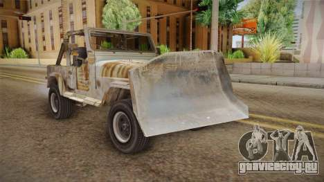 Jeep Wrangler Mad Max Style для GTA San Andreas вид справа