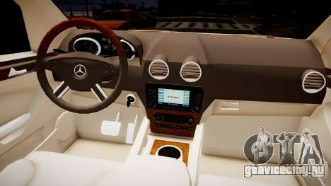 Mercedes GL 450 для GTA 4 вид изнутри