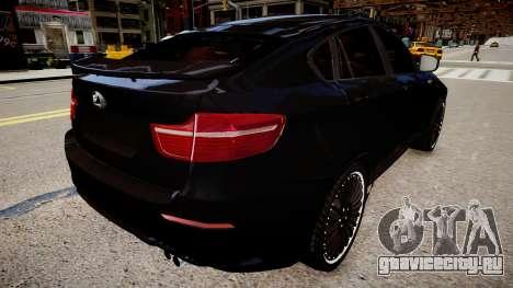 BMW X6 Hamann v2.0 для GTA 4 вид сзади слева