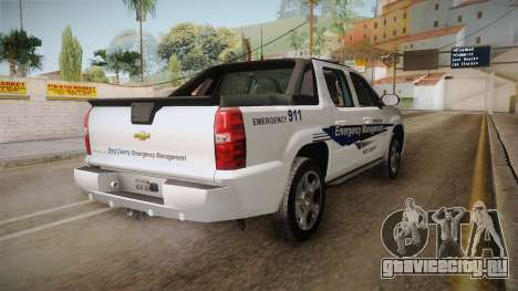 Chevrolet Avalanche 2008 Emergency Management для GTA San Andreas вид справа