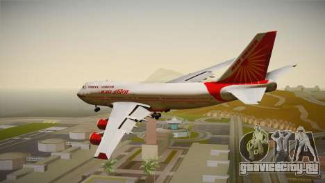 Boeing 747-400 Air India Khajuraho для GTA San Andreas вид справа