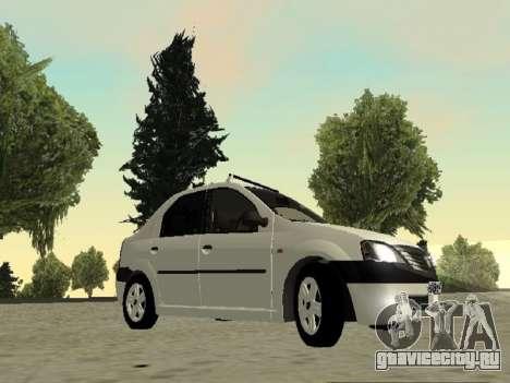 Renault Logan 2007 для GTA San Andreas вид слева