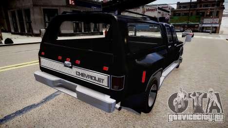 Chevrolet Silverado Civil для GTA 4 вид сзади слева
