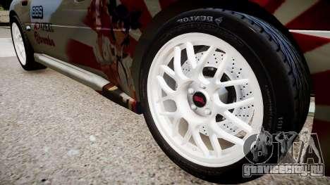 Subaru Impreza 22b STI для GTA 4 вид сзади