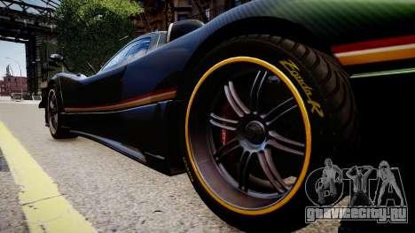 Pagani Zonda R Evolucion Final для GTA 4 вид сзади