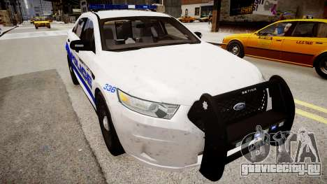 Ford Interceptor Liberty City Police для GTA 4 вид справа