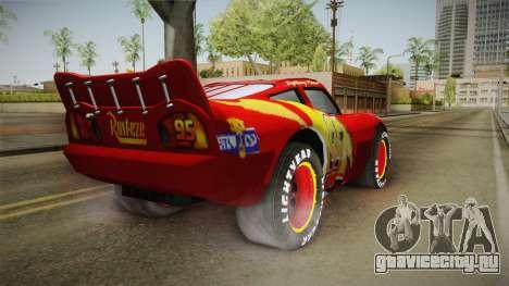 Cars 3 - McQueen для GTA San Andreas вид сзади слева