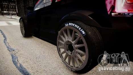 Volkswagen Polo WRC 2013 для GTA 4 вид сзади