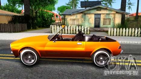 GTA V Declasse Rhapsody Cabrio Style для GTA San Andreas вид слева